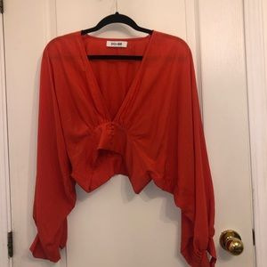 DO+BE Orange/Red Blouse